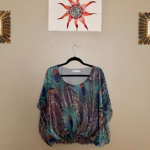 SOLITAIRE woman's peacock summer t-shirt